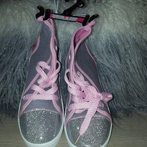 Shopkins hightop sneakers size 3 girls